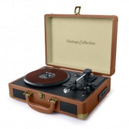 Platine Vinyle Stéréo Muse MT-103-CL, 33/45/78 tours, USB, SD, Bluetooth, 2 enceintes intégrées