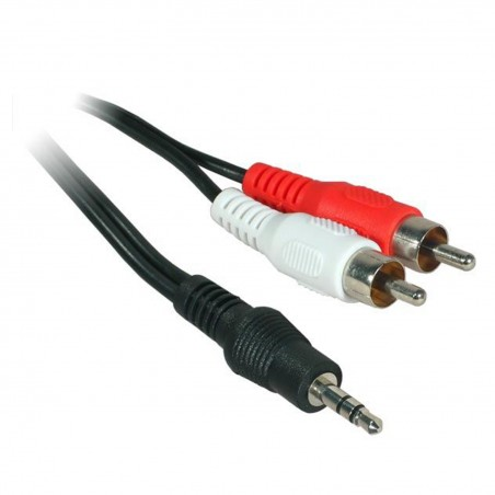Câble adaptateur Jack 3,5 mâle stéréo / 2 RCA mâle - Longueur 5m