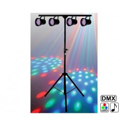 Pack 4 games PAR36 DMX LEDS...
